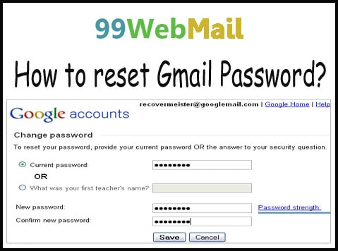How to reset Gmail Password?