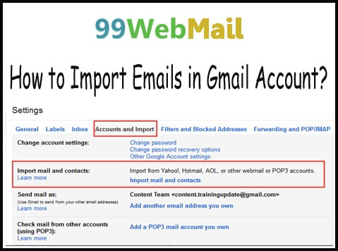 How to Import Emails in Gmail Account?