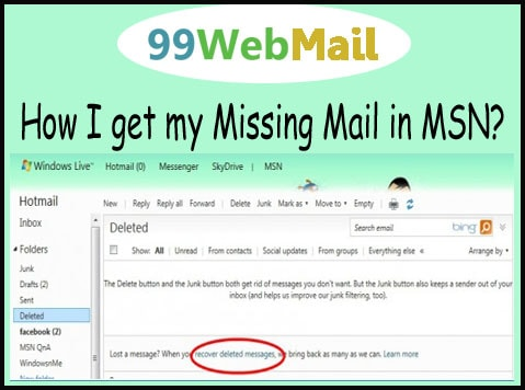 How I get my Missing Mail in MSN?