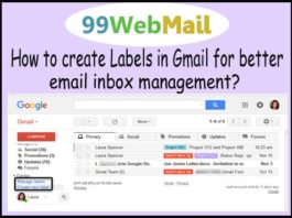 How to create Labels in Gmail for better email inbox management?