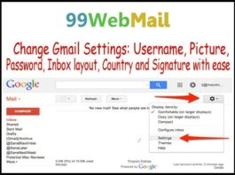 Change Gmail Settings: Username, Picture, Password, Inbox layout, Country and Signature with ease