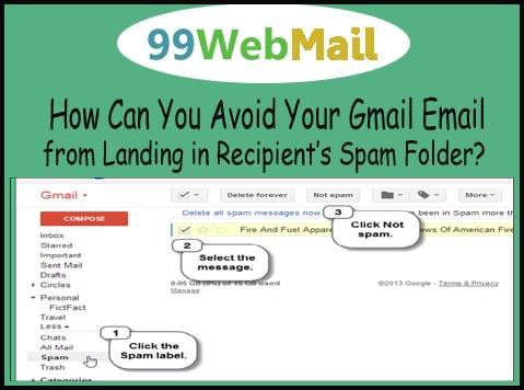 How Can You Avoid Your Gmail Email from Landing in Recipient's Spam Folder?