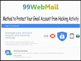 Method to Protect Your Gmail Account from Hacking Activity