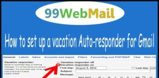 How to set up a vacation Auto-responder for Gmail