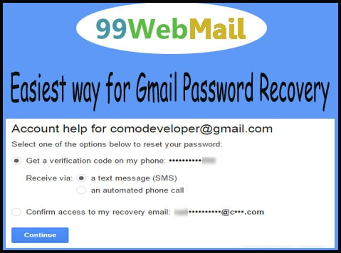 18334105666 Easiest ways for Gmail Password Recovery - 99 Webmail