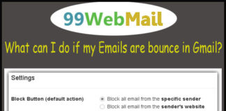What can I do if my Emails are bounce in Gmail?