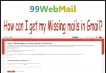 How can I get my Missing mails in Gmail?
