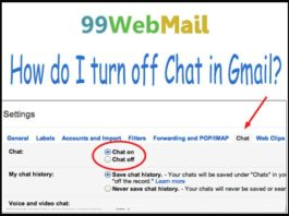 How do I turn off Chat in Gmail?