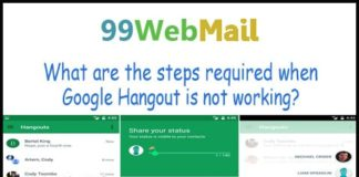 What are the steps required when Google Hangout is not working?