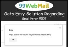 Gets Easy Solution Regarding Gmail Error #007