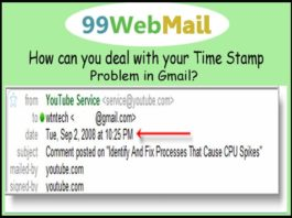 How can you deal with your Time Stamp Problem in Gmail?