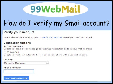 How do I verify my Gmail account?