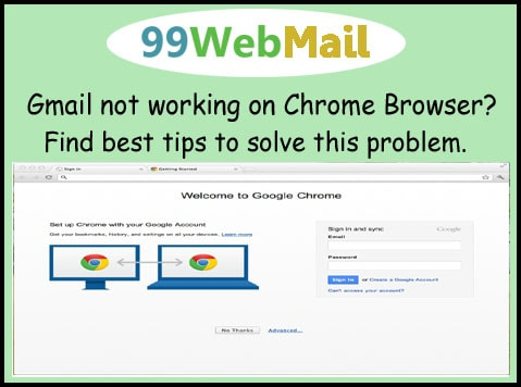 Gmail not working on Chrome Browser?