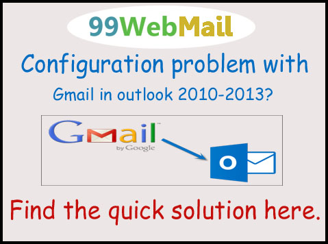 Configuration problem with Gmail in outlook 2010-2013?