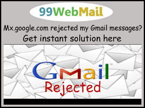 Mx.google.com rejected my Gmail messages?