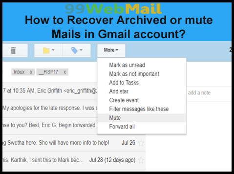 How to Recover Archived or mute Mails in Gmail account?